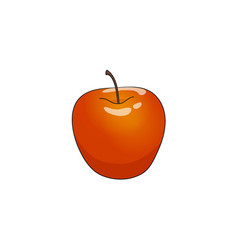 flat cartoon apple isolated vector image