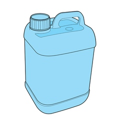 Gallon plastic vector