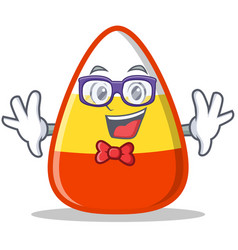 Geek candy corn character cartoon vector
