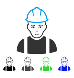 Glad contractor icon vector