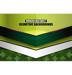 Green modern geometric abstract background vector