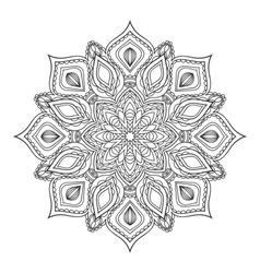 hand drawn entangle mandala vector image