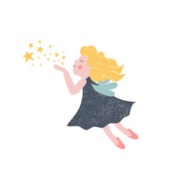 hand drawn fairy vector image