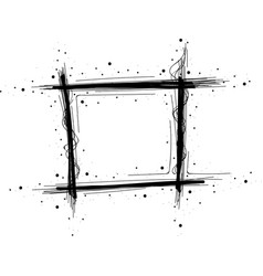 Hand drawn geometric frame with space for text vector
