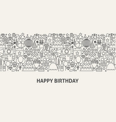 happy birthday banner concept vector image