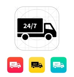 Hour shipping icon vector image