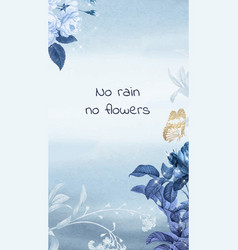Instagram story template flower life quote vector