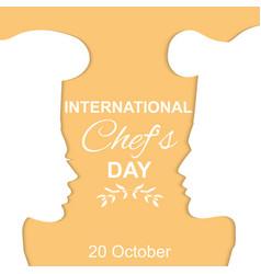 International chefs day vector