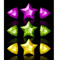 Jewelry icons stars and arrows vector