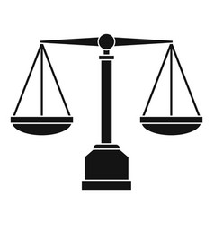 justice scale icon simple style vector image