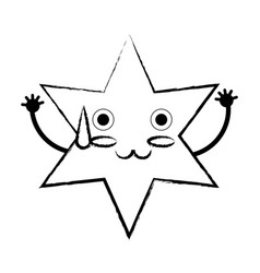kawaii star icon vector image