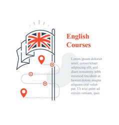 Learn english language linguistic courses vector