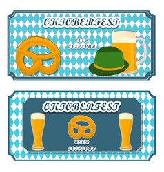 Logo for bar banner oktoberfestpub during vector