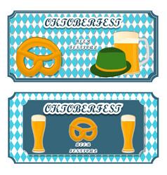 logo for bar banner oktoberfestpub during vector image