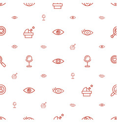 Look icons pattern seamless white background vector