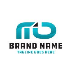 md logo business logo vector image