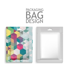 Mockup Blank Foil Packaging vector image