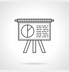 office presentation flat line icon vector image