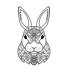 Ornamental White Rabbit vector