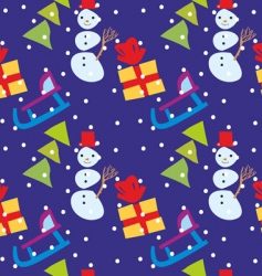 Pattern with Christmas vector