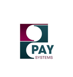 Pay system solutions letter p icon vector