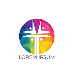people church logo design vector image