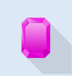 Pink tourmaline icon flat style vector