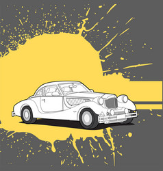 Retro car on bright background vector