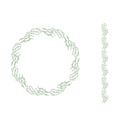 Round Christmas wreath isolated on white Endless vector image