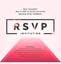 Rsvp invitation template for the event vector