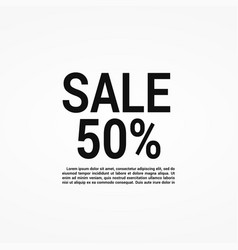 Sale banner layout design vector