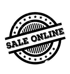 Sale Online rubber stamp vector image