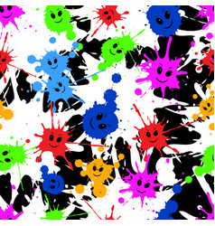 seamless repeating pattern of colored blots vector image