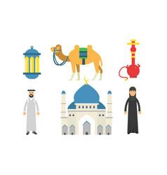 Set traditional symbols turkey vector