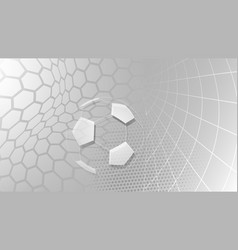 soccer background in gray colors vector image