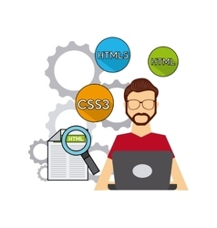 software developer and programmer vector image