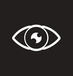Stylish black and white icon human eye vector