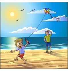 Summer vacation on the beach vector