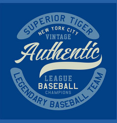 Superior tiger vintage authentic vector