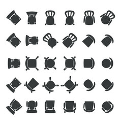 Top view of chairs vector