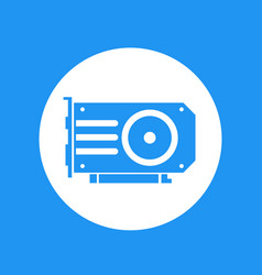 Video card icon over white vector