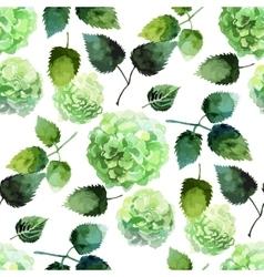 Watercolor hydrangea pattern vector