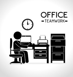 Work office design vector image