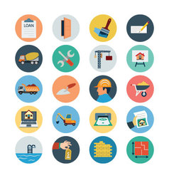 Flat Real Estate Icons 3 vector image