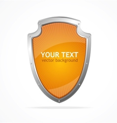 metal shield lke speech templates for text vector image vector image