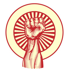 soviet propaganda poster style fist vector image vector image