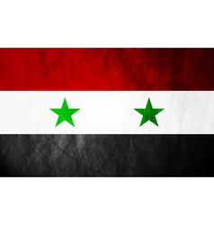 Syrian grunge flag vector image