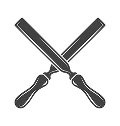 Two crossed palette knives Black on white flat vector image vector image