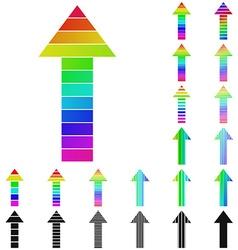 Arrow Logo Set vector image vector image