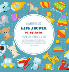 baby shower born celebration background or vector image